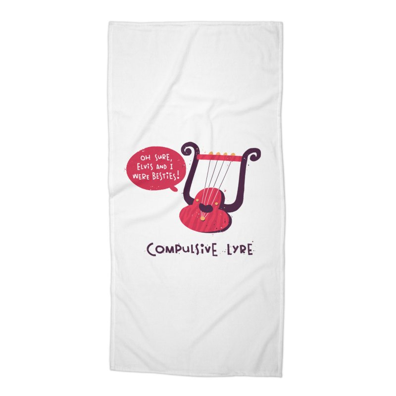 Compulsive Lyre Accessories Beach Towel by The Pun Shop