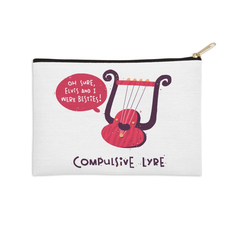 Compulsive Lyre Accessories Zip Pouch by The Pun Shop