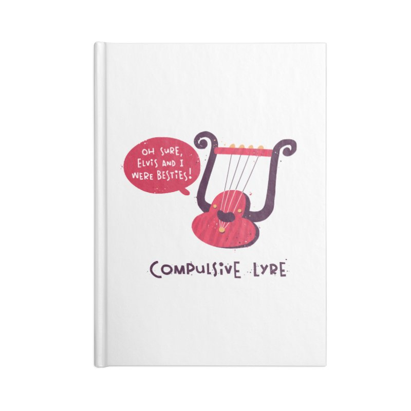 Compulsive Lyre Accessories Lined Journal Notebook by The Pun Shop