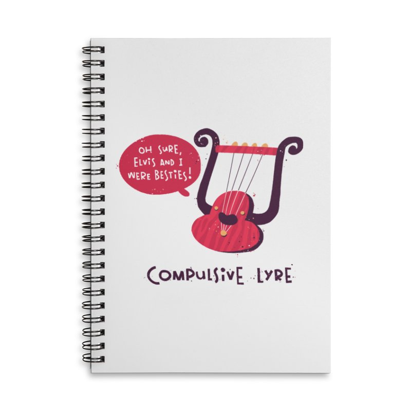 Compulsive Lyre Accessories Lined Spiral Notebook by The Pun Shop