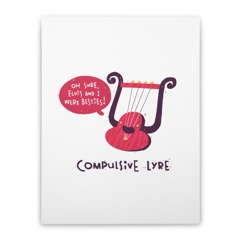 Compulsive Lyre Home Stretched Canvas by The Pun Shop