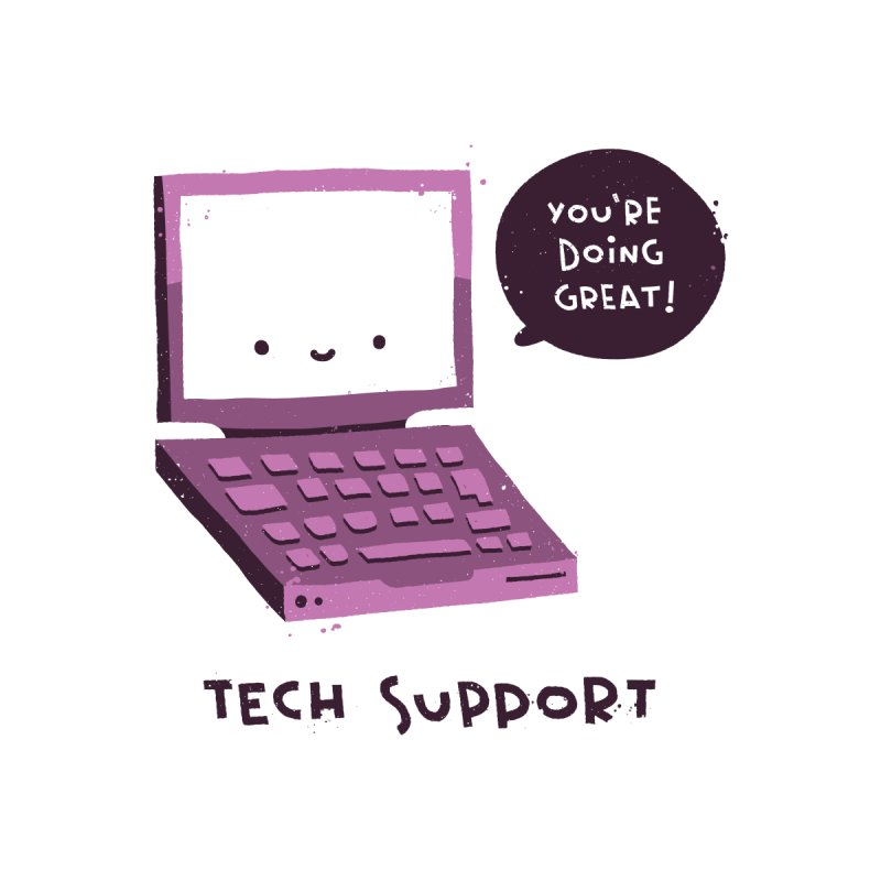 Tech Support Men's T-Shirt by The Pun Shop