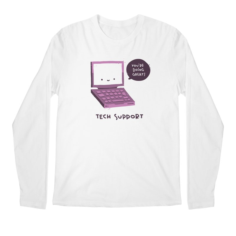 Tech Support Men's Regular Longsleeve T-Shirt by The Pun Shop