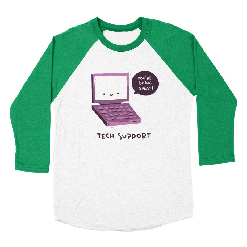 Tech Support Women's Baseball Triblend Longsleeve T-Shirt by The Pun Shop