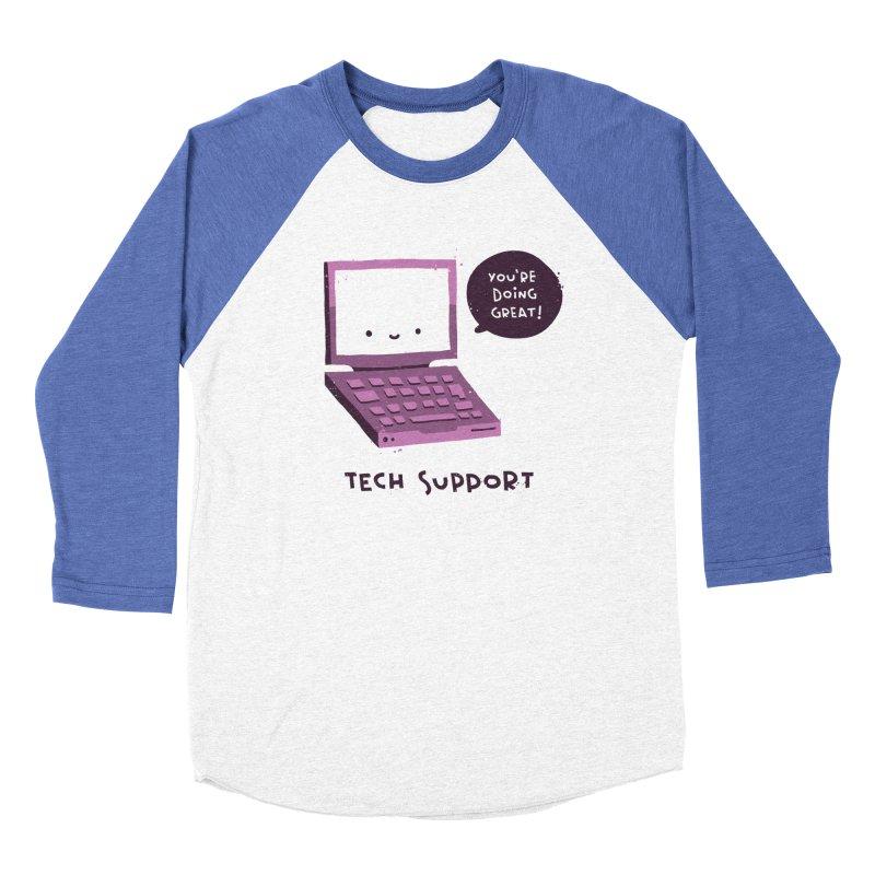 Tech Support Men's Baseball Triblend Longsleeve T-Shirt by The Pun Shop