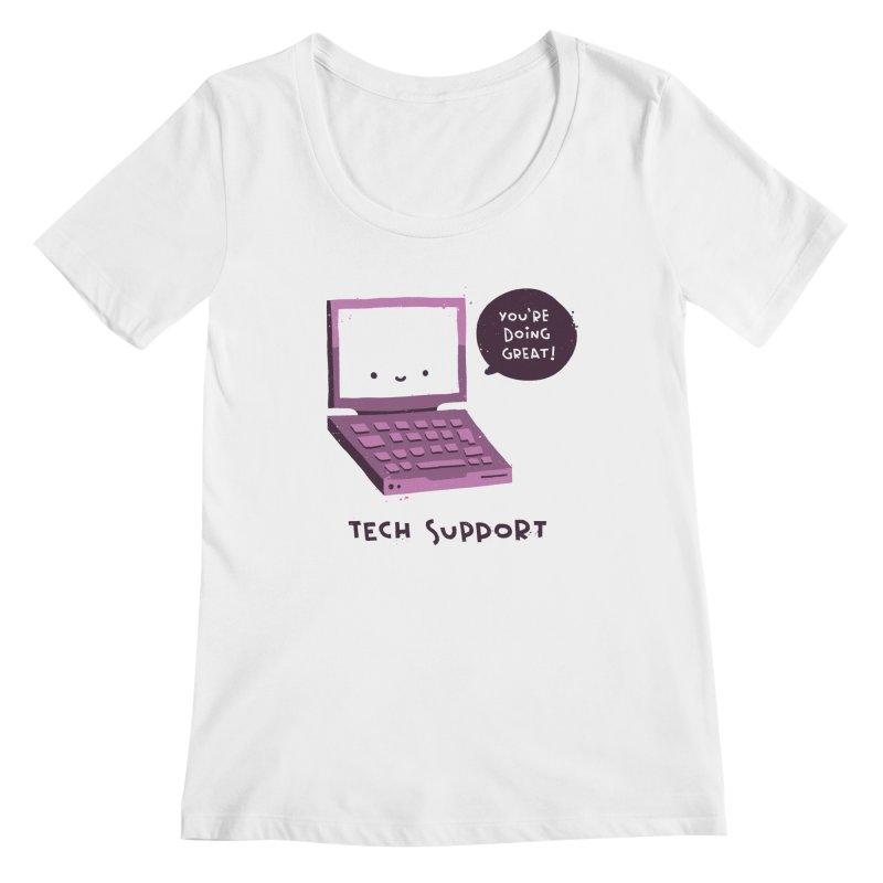 Tech Support Women's Scoopneck by The Pun Shop