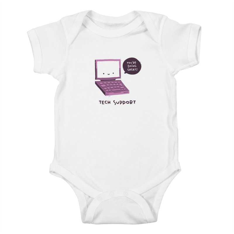 Tech Support Kids Baby Bodysuit by The Pun Shop