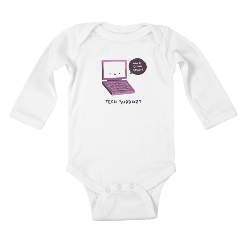 Tech Support Kids Baby Longsleeve Bodysuit by The Pun Shop