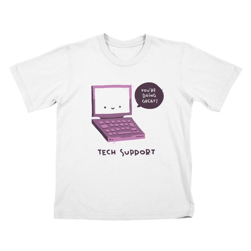 Tech Support Kids T-Shirt by The Pun Shop