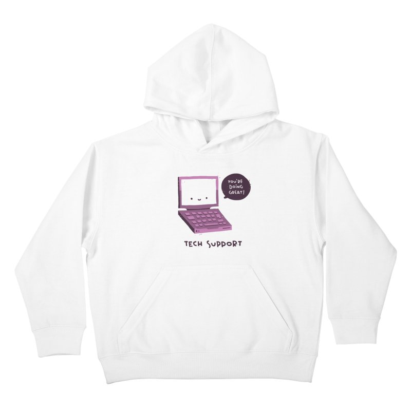 Tech Support Kids Pullover Hoody by The Pun Shop