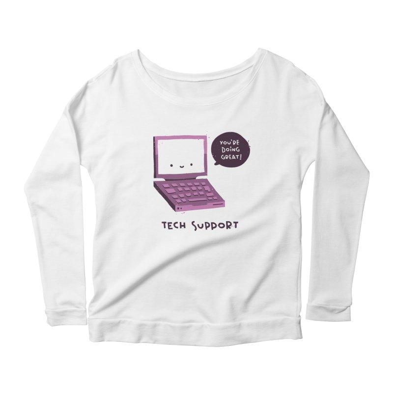 Tech Support Women's Scoop Neck Longsleeve T-Shirt by The Pun Shop