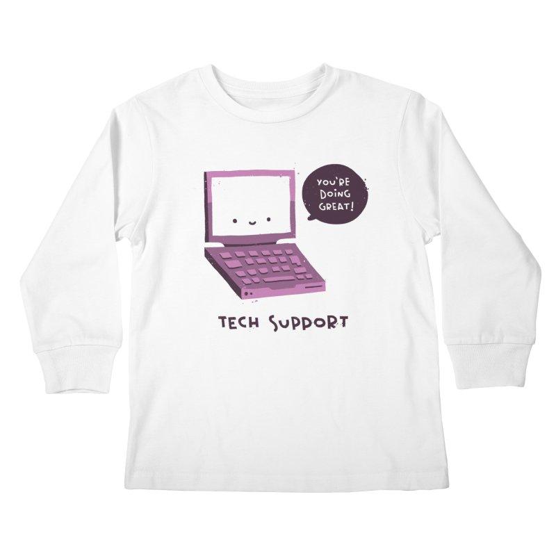 Tech Support Kids Longsleeve T-Shirt by The Pun Shop