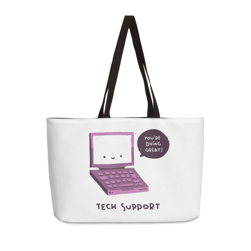Tech Support Accessories Weekender Bag Bag by The Pun Shop