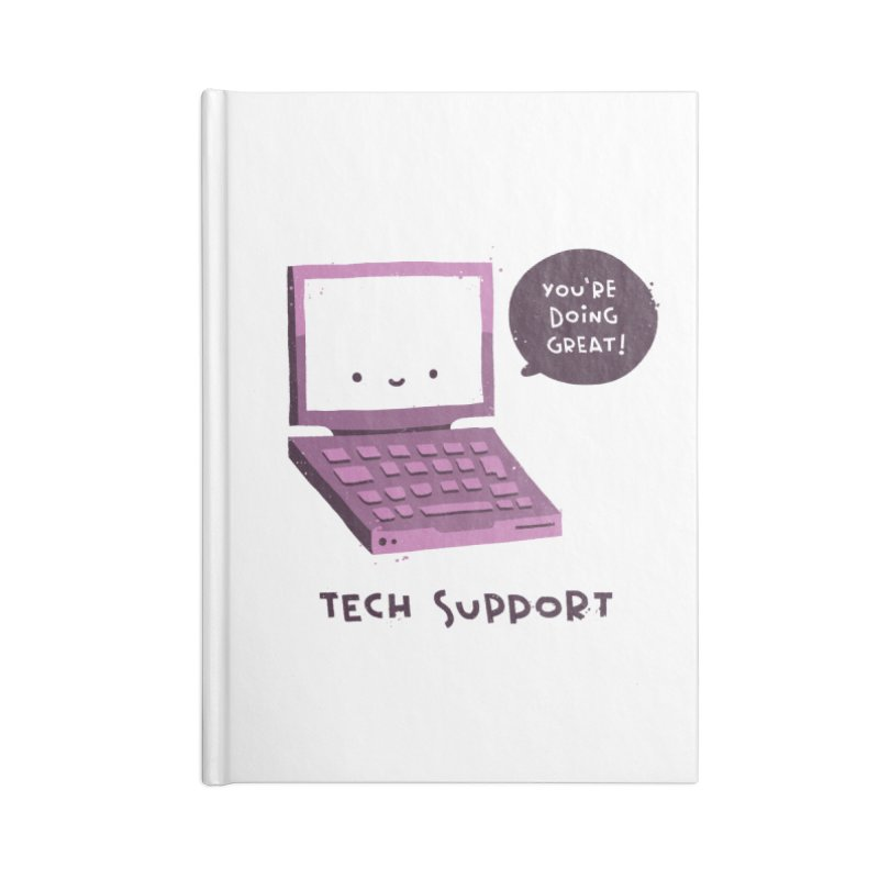 Tech Support Accessories Lined Journal Notebook by The Pun Shop