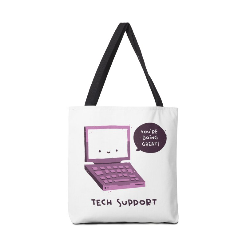 Tech Support Accessories Tote Bag Bag by The Pun Shop