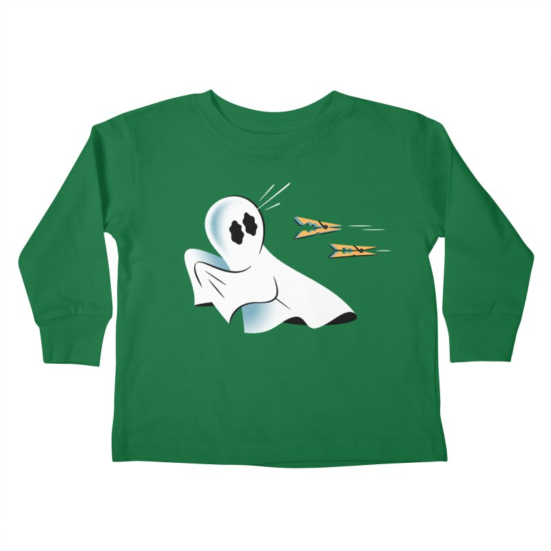 A Fearful Phantom — APPAREL Kids Toddler Longsleeve T-Shirt by The Pure Bluff