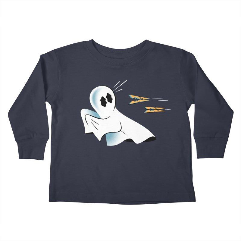 A Fearful Phantom — APPAREL Kids Toddler Longsleeve T-Shirt by The Pure Bluff