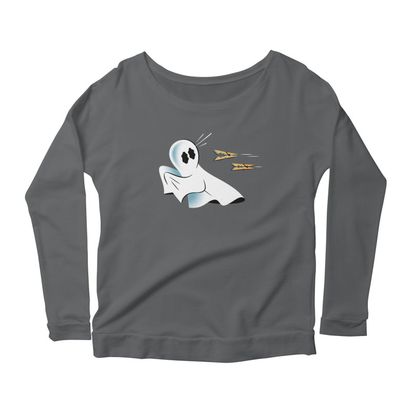 A Fearful Phantom — APPAREL Women's Scoop Neck Longsleeve T-Shirt by The Pure Bluff