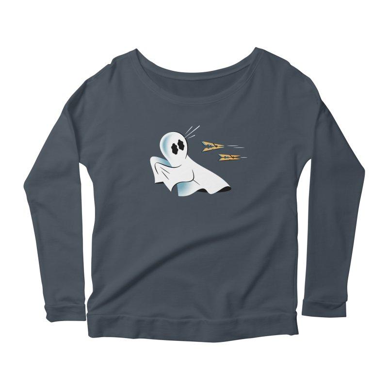 A Fearful Phantom — APPAREL Women's Scoop Neck Longsleeve T-Shirt by The Pure Bluff
