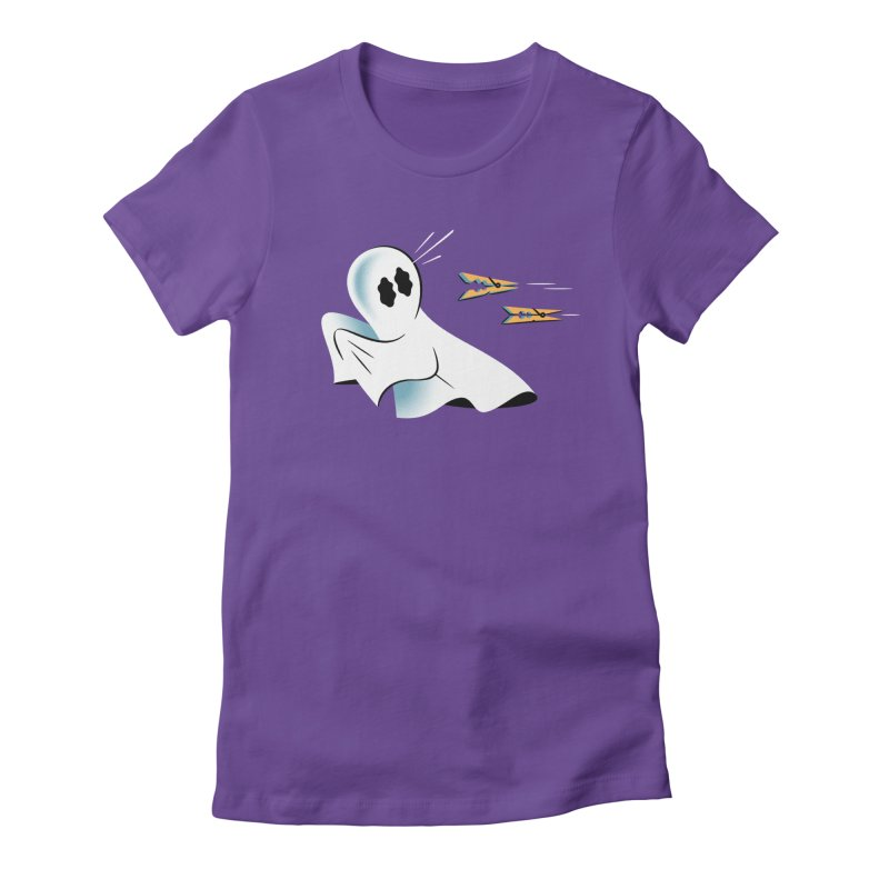 A Fearful Phantom — APPAREL Women's Fitted T-Shirt by The Pure Bluff