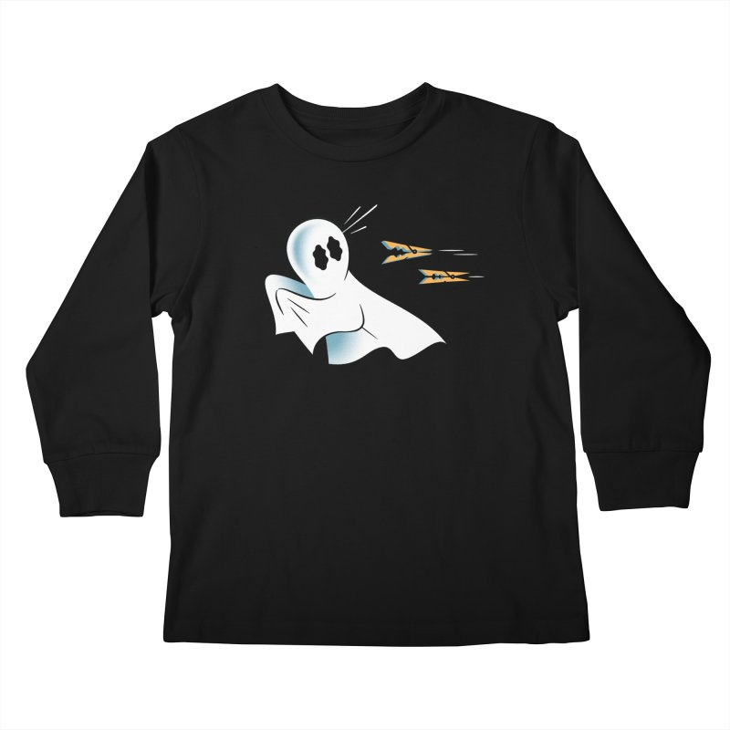 A Fearful Phantom — APPAREL Kids Longsleeve T-Shirt by The Pure Bluff