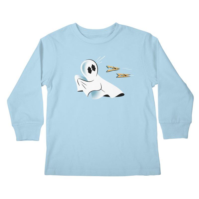 A Fearful Phantom — APPAREL Kids Longsleeve T-Shirt by The Pure Bluff
