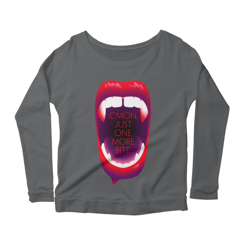 One More Bite — APPAREL Women's Longsleeve T-Shirt by The Pure Bluff