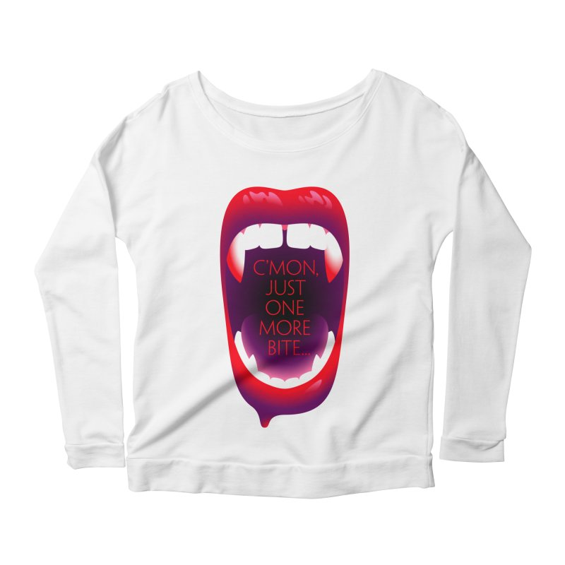 One More Bite — APPAREL Women's Scoop Neck Longsleeve T-Shirt by The Pure Bluff