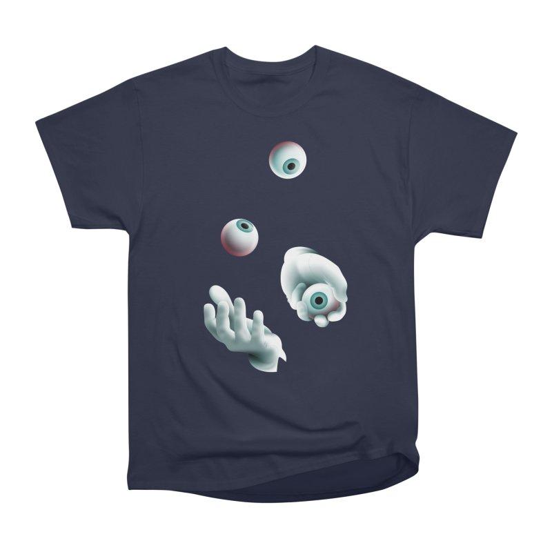 Eyeball Juggler — APPAREL Women's Heavyweight Unisex T-Shirt by The Pure Bluff