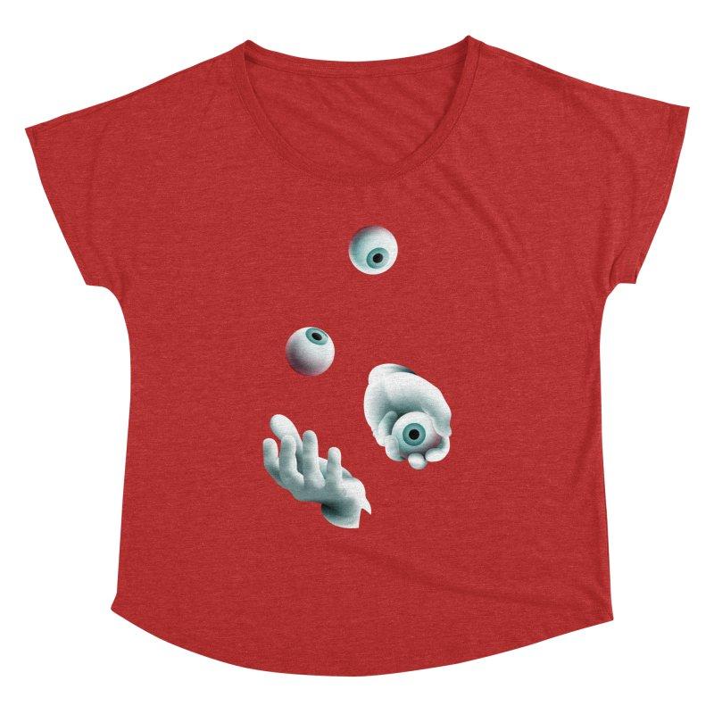 Eyeball Juggler — APPAREL Women's Dolman Scoop Neck by The Pure Bluff