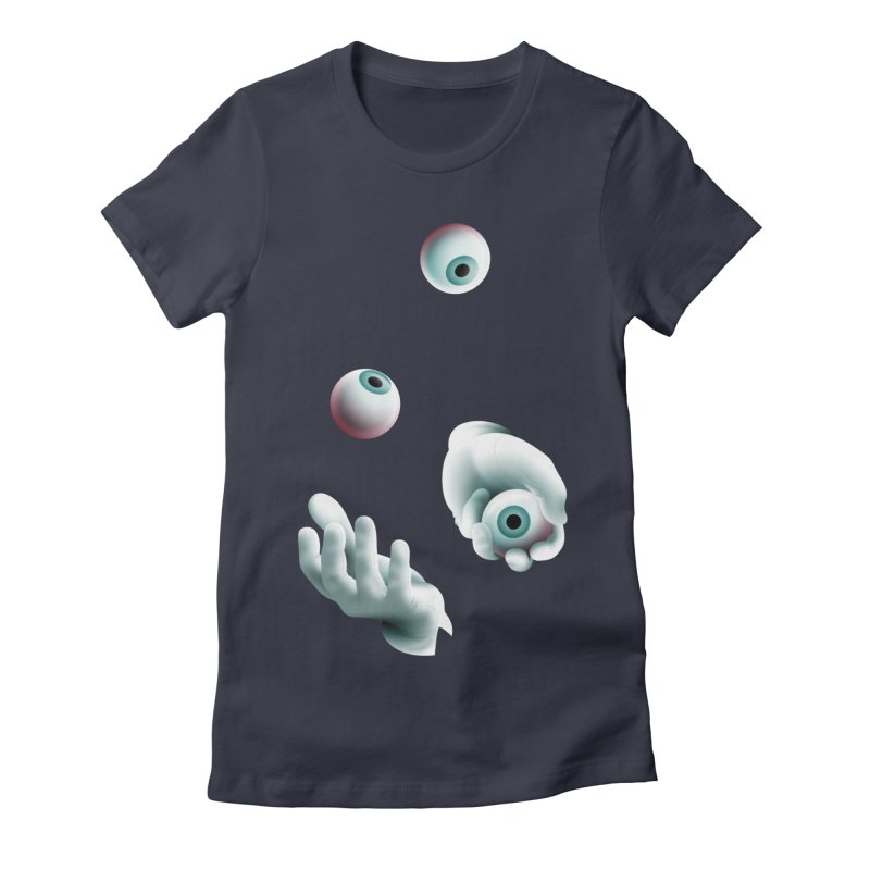 Eyeball Juggler — APPAREL Women's Fitted T-Shirt by The Pure Bluff