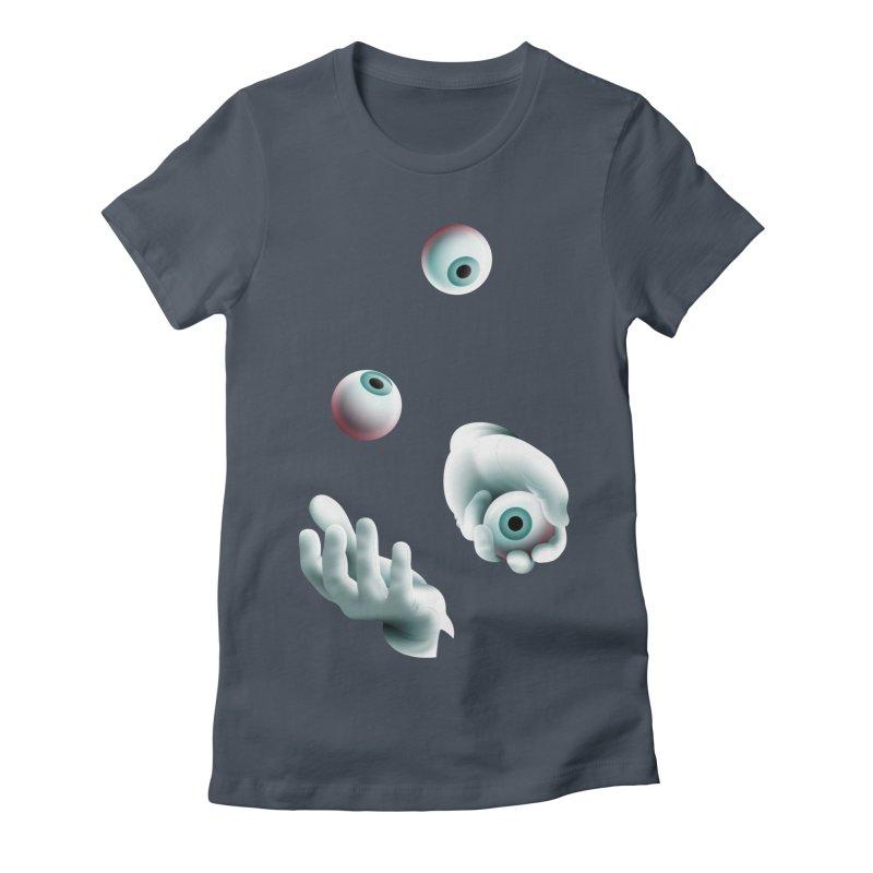 Eyeball Juggler — APPAREL Women's T-Shirt by The Pure Bluff