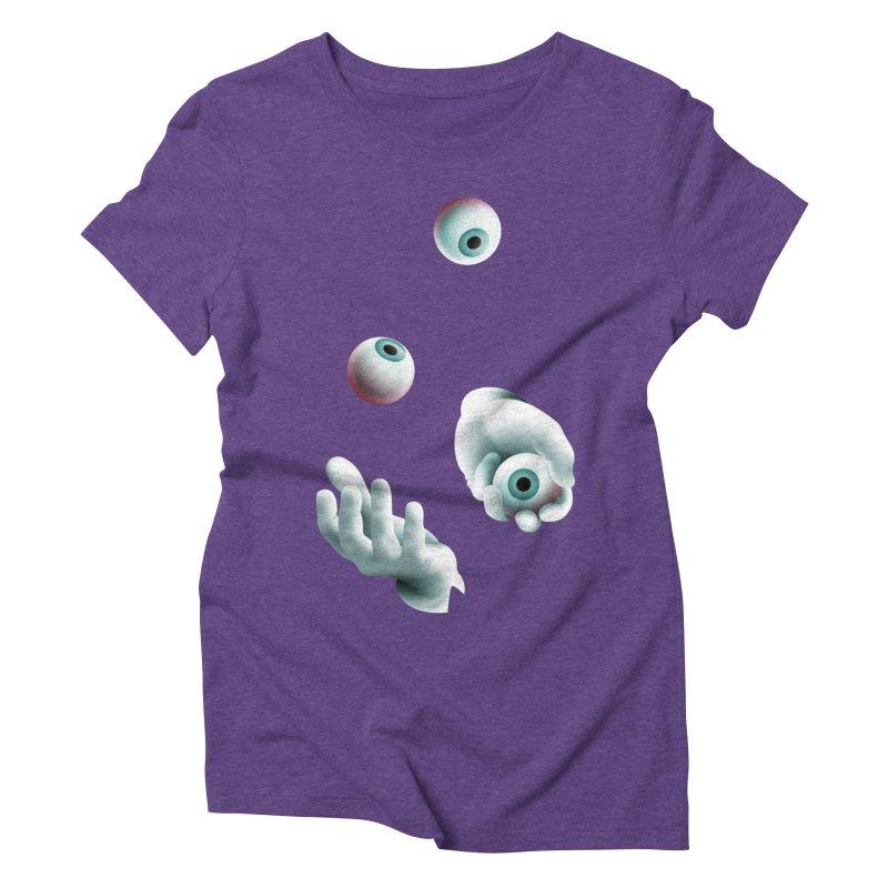 Eyeball Juggler — APPAREL Women's Triblend T-Shirt by The Pure Bluff