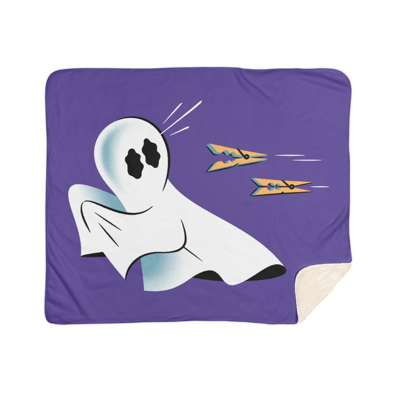 A Fearful Phantom (Purple) Home Sherpa Blanket Blanket by The Pure Bluff