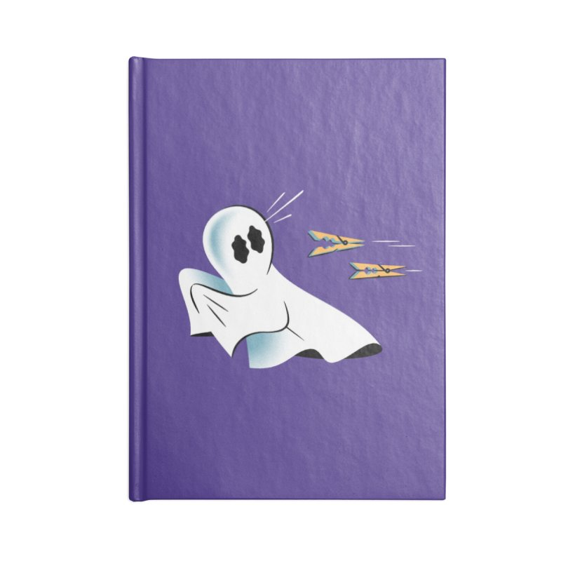 A Fearful Phantom (Purple) Accessories Lined Journal Notebook by The Pure Bluff