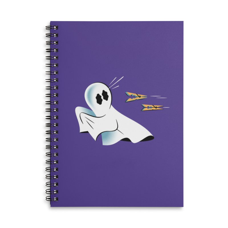 A Fearful Phantom (Purple) Accessories Lined Spiral Notebook by The Pure Bluff