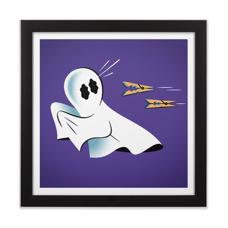 A Fearful Phantom (Purple) Home Framed Fine Art Print by The Pure Bluff