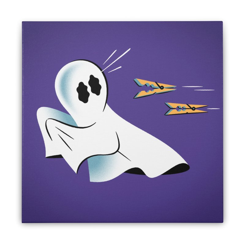A Fearful Phantom (Purple) Home Stretched Canvas by The Pure Bluff