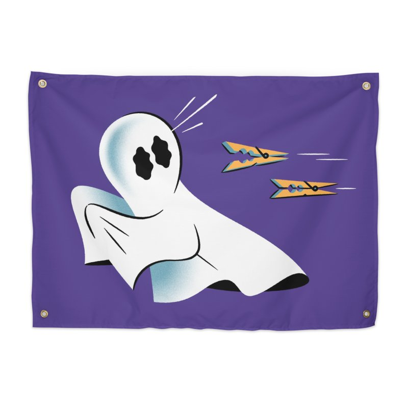A Fearful Phantom (Purple) Home Tapestry by The Pure Bluff