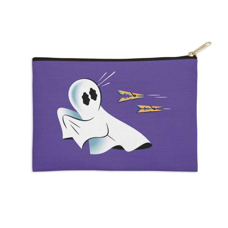 A Fearful Phantom (Purple) Accessories Zip Pouch by The Pure Bluff