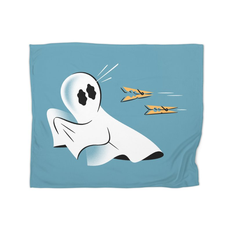 A Fearful Phantom (Teal) Home Blanket by The Pure Bluff