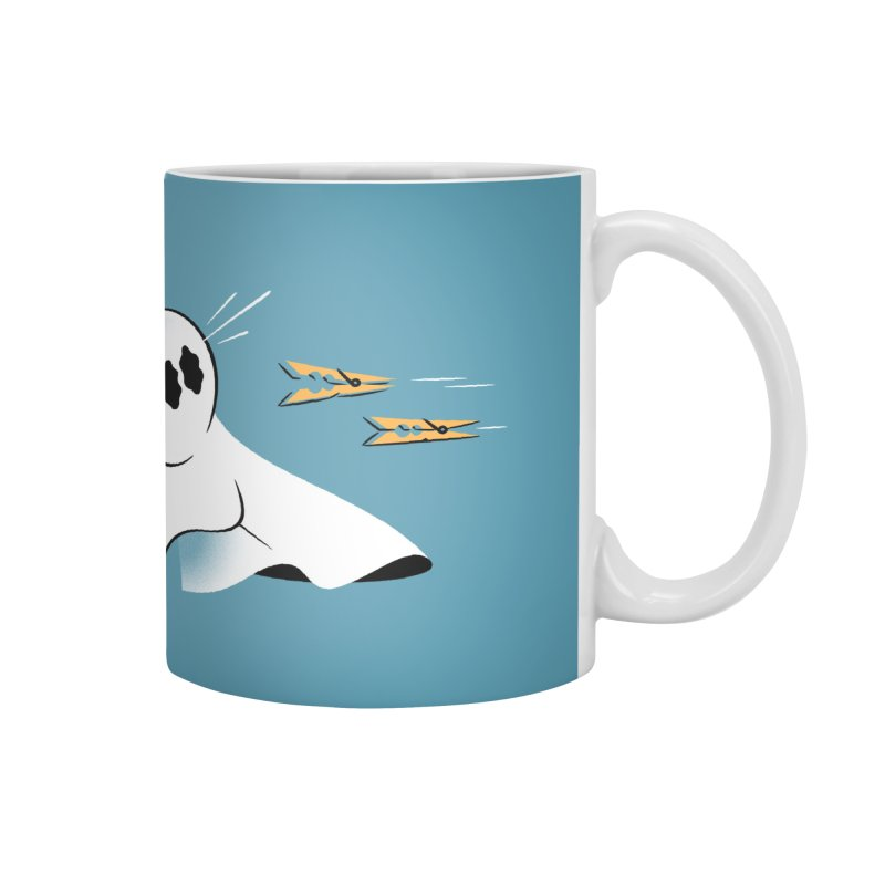 A Fearful Phantom (Teal) Accessories Mug by The Pure Bluff