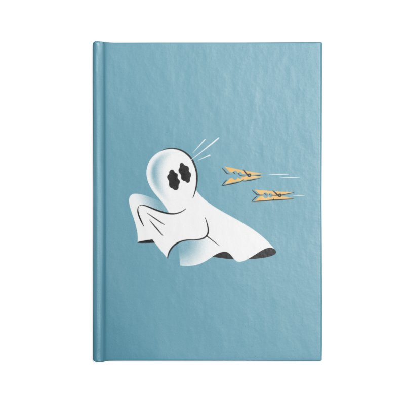 A Fearful Phantom (Teal) Accessories Blank Journal Notebook by The Pure Bluff