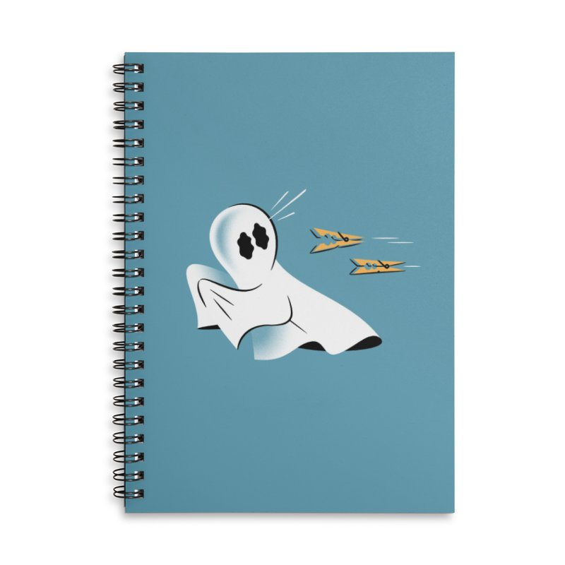 A Fearful Phantom (Teal) Accessories Lined Spiral Notebook by The Pure Bluff