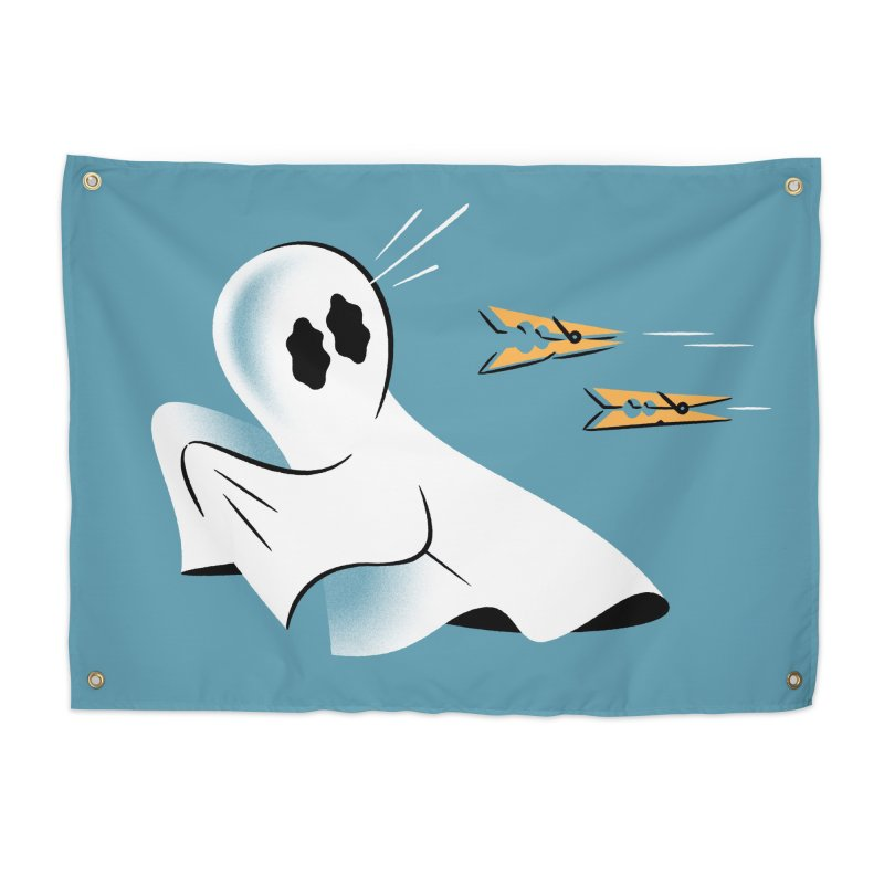 A Fearful Phantom (Teal) Home Tapestry by The Pure Bluff