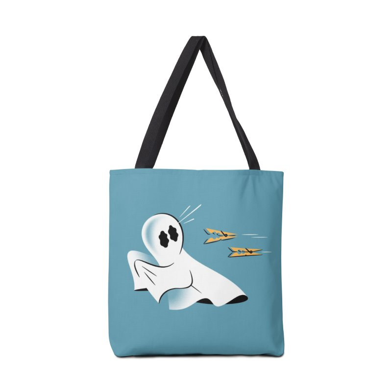 A Fearful Phantom (Teal) Accessories Tote Bag Bag by The Pure Bluff
