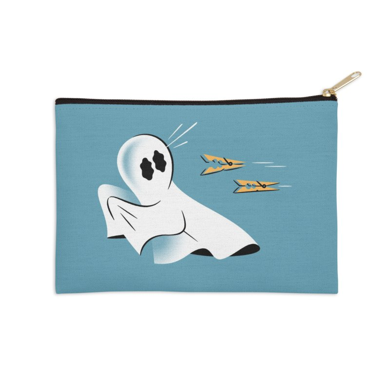 A Fearful Phantom (Teal) Accessories Zip Pouch by The Pure Bluff