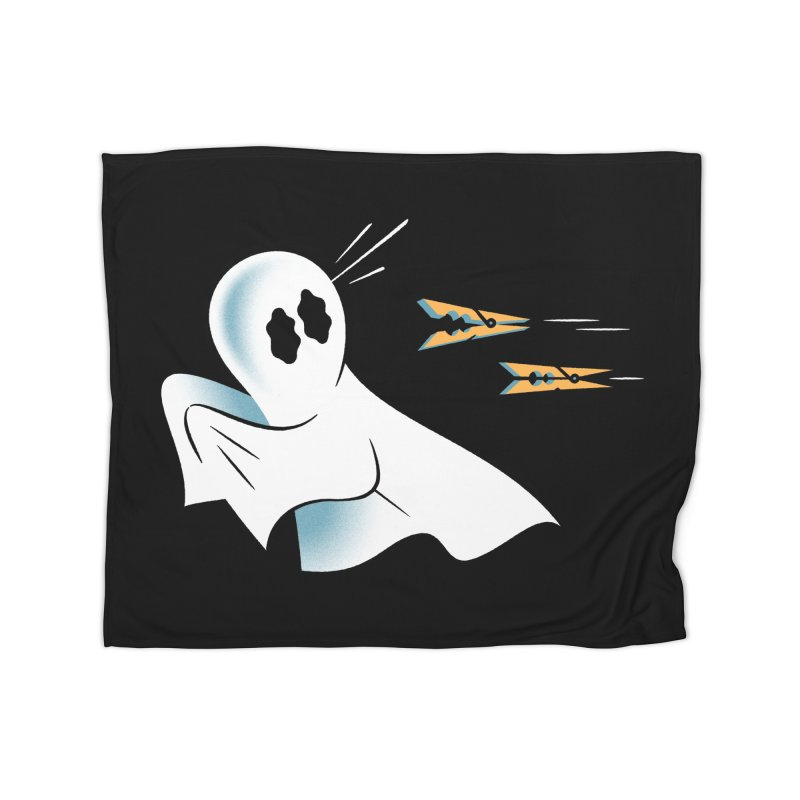 A Fearful Phantom (Black) Home Blanket by The Pure Bluff