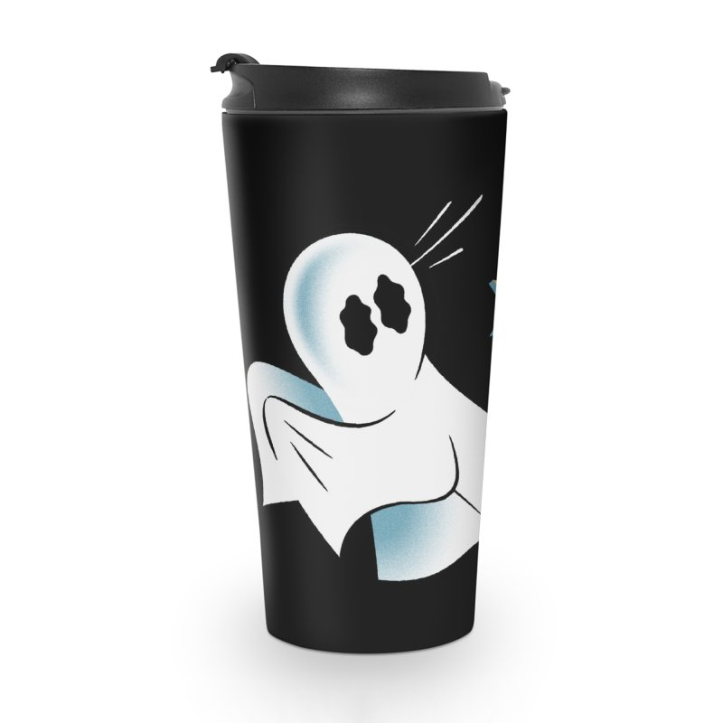 A Fearful Phantom (Black) Accessories Travel Mug by The Pure Bluff