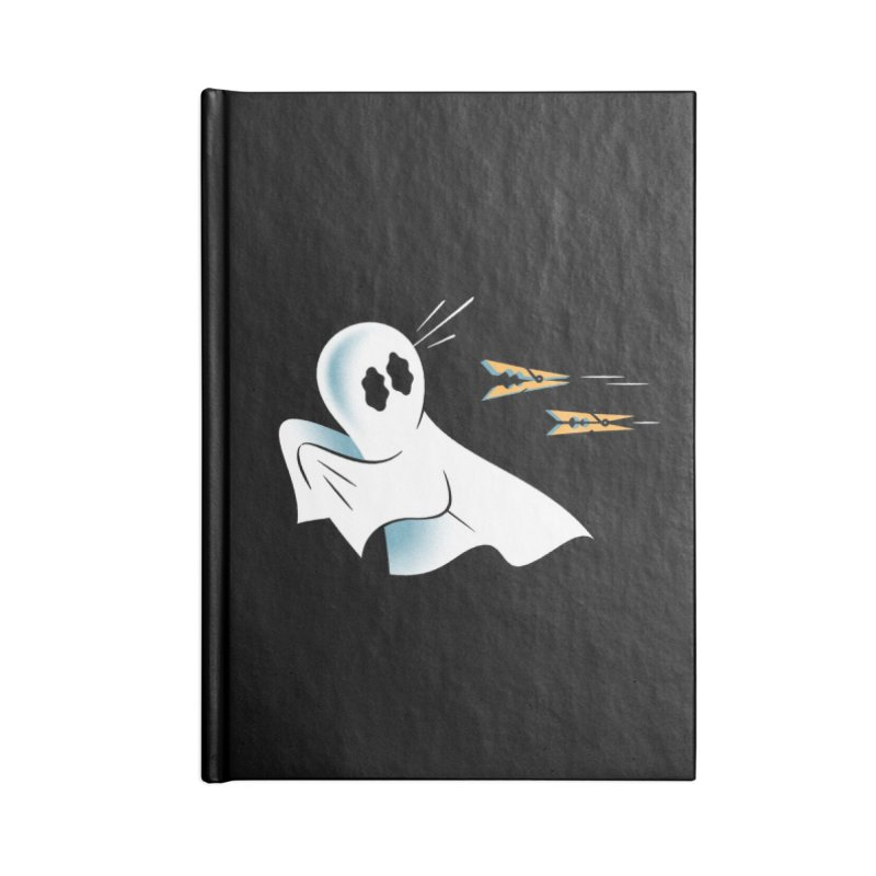 A Fearful Phantom (Black) Accessories Blank Journal Notebook by The Pure Bluff